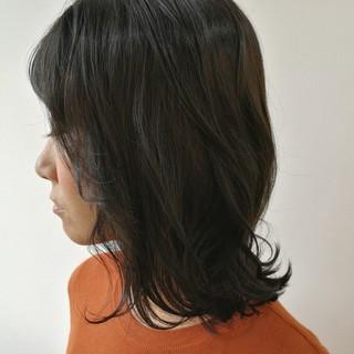 前髪あり 簡単ヘアアレンジ ナチュラル スモーキーカラー ヘアスタイルや髪型の写真・画像