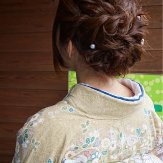 エレガント 上品 和服 ヘアアレンジ ヘアスタイルや髪型の写真・画像
