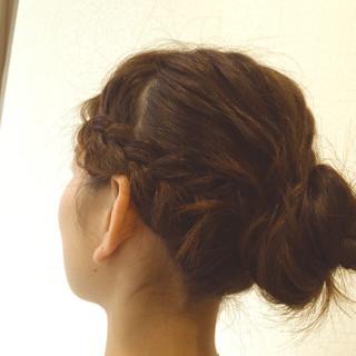 フェミニン ゆるふわ ヘアアレンジ 簡単ヘアアレンジ ヘアスタイルや髪型の写真・画像
