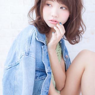 ナチュラル 大人女子 ミディアム 大人かわいい ヘアスタイルや髪型の写真・画像 ヘアスタイルや髪型の写真・画像