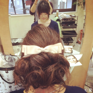 ミディアム ハーフアップ ゆるふわ フェミニン ヘアスタイルや髪型の写真・画像