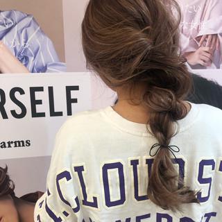 ロング スポーツ ヘアアレンジ フェミニン ヘアスタイルや髪型の写真・画像 ヘアスタイルや髪型の写真・画像