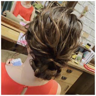 成人式 デート ヘアアレンジ 結婚式 ヘアスタイルや髪型の写真・画像