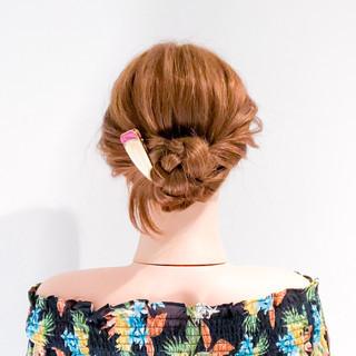 ヘアアレンジ フェミニン ショート 簡単ヘアアレンジ ヘアスタイルや髪型の写真・画像 ヘアスタイルや髪型の写真・画像