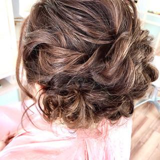 ショート くるりんぱ 簡単ヘアアレンジ シニヨン ヘアスタイルや髪型の写真・画像