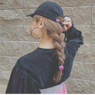 デート ロング 大人かわいい ヘアアレンジ ヘアスタイルや髪型の写真・画像