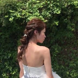 エレガント 結婚式 かわいい 上品 ヘアスタイルや髪型の写真・画像