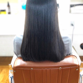 縮毛矯正ストカール ナチュラル 髪質改善トリートメント 黒髪 ヘアスタイルや髪型の写真・画像 ヘアスタイルや髪型の写真・画像