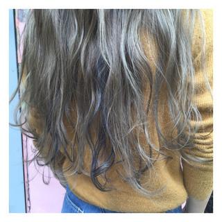 外国人風 グラデーションカラー ロング ストリート ヘアスタイルや髪型の写真・画像