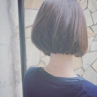 外国人風カラー 簡単 小顔 ミディアム ヘアスタイルや髪型の写真・画像