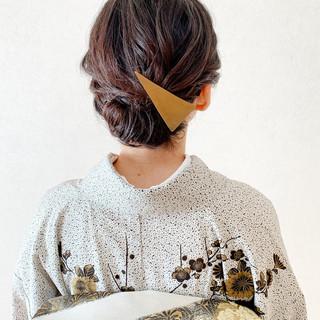 着物 エレガント 結婚式 振袖ヘア ヘアスタイルや髪型の写真・画像