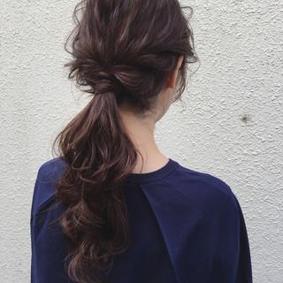 フェミニン ヘアアレンジ ロング 結婚式 ヘアスタイルや髪型の写真・画像