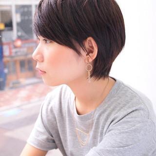 ショート 爽やか マニッシュ 小顔 ヘアスタイルや髪型の写真・画像