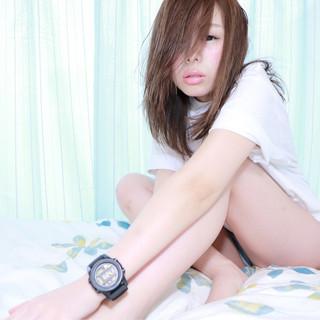 外国人風 ストレート ミディアム ガーリー ヘアスタイルや髪型の写真・画像