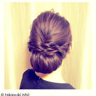 簡単ヘアアレンジ ロープ編み ショート ヘアアレンジ ヘアスタイルや髪型の写真・画像