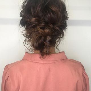 ゆるふわセット ミディアム ヘアセット 結婚式ヘアアレンジ ヘアスタイルや髪型の写真・画像