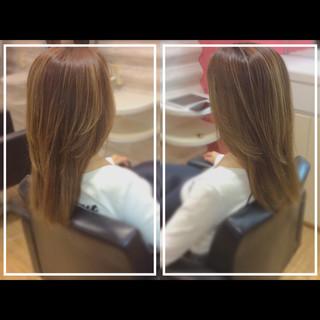 髪質改善カラー ロング ハイトーンカラー 社会人の味方 ヘアスタイルや髪型の写真・画像