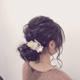 フェミニン 外国人風 ショート ミディアム ヘアスタイルや髪型の写真・画像