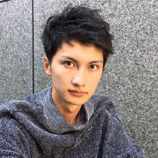 ショート ボーイッシュ 黒髪 暗髪 ヘアスタイルや髪型の写真・画像