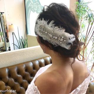 エレガント 上品 結婚式 ブライダル ヘアスタイルや髪型の写真・画像