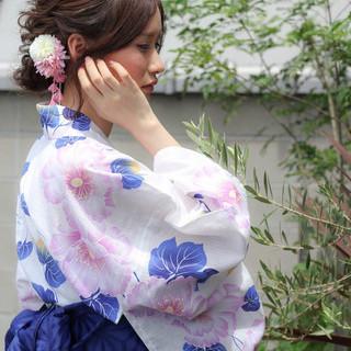 和装 色気 デート 夏 ヘアスタイルや髪型の写真・画像