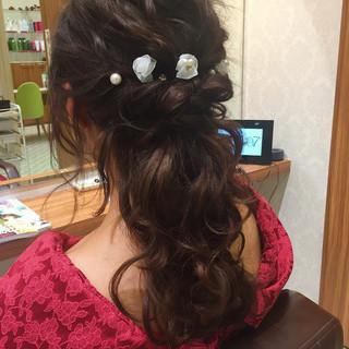 ガーリー 成人式 フェミニン ヘアアレンジ ヘアスタイルや髪型の写真・画像
