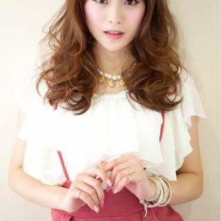 コンサバ モテ髪 ゆるふわ 外国人風 ヘアスタイルや髪型の写真・画像