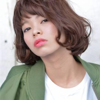 ウェーブ モード ストレート ボブ ヘアスタイルや髪型の写真・画像 ヘアスタイルや髪型の写真・画像