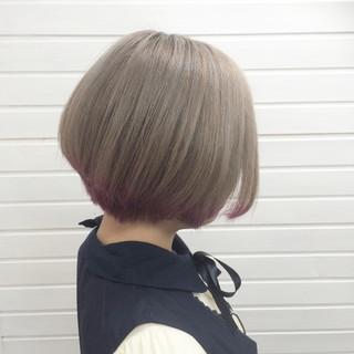 ミルクティーベージュ 透明感 ピンク アッシュ ヘアスタイルや髪型の写真・画像