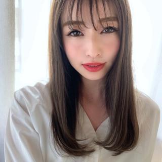 大人女子 ナチュラル シースルーバング ロング ヘアスタイルや髪型の写真・画像