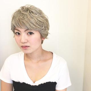 外国人風 ダブルカラー マッシュ ストリート ヘアスタイルや髪型の写真・画像
