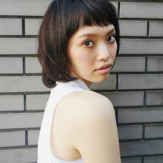 前髪あり マッシュ ショート 外国人風 ヘアスタイルや髪型の写真・画像