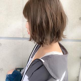 ボブ パーマ 小顔 フェミニン ヘアスタイルや髪型の写真・画像