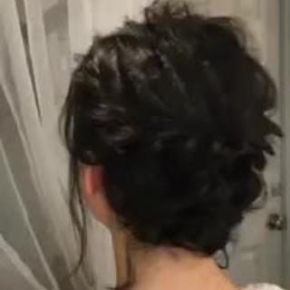 黒髪 デート ゆるふわ ボブ ヘアスタイルや髪型の写真・画像