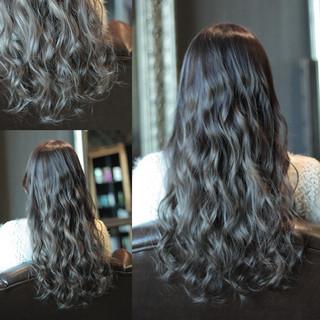 ストリート 暗髪 ロング グラデーションカラー ヘアスタイルや髪型の写真・画像