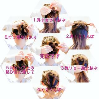 簡単ヘアアレンジ ロング アップスタイル オフィス ヘアスタイルや髪型の写真・画像 ヘアスタイルや髪型の写真・画像