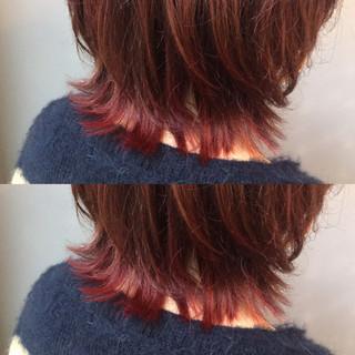 マッシュ ダブルカラー 色気 ショート ヘアスタイルや髪型の写真・画像 ヘアスタイルや髪型の写真・画像