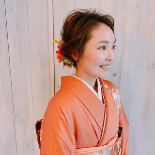 結婚式髪型 ミディアム 結婚式ヘアアレンジ 大人女子 ヘアスタイルや髪型の写真・画像