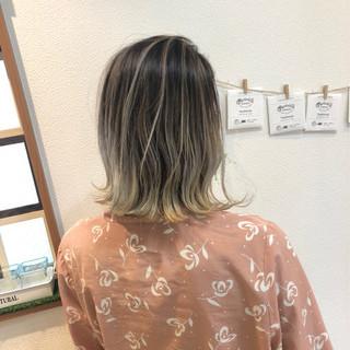 バレイヤージュ 外国人風カラー 外国人風 ハイライト ヘアスタイルや髪型の写真・画像