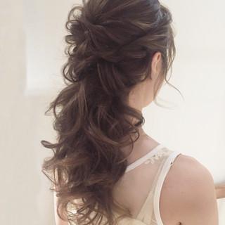 ロング エフォートレス フェミニン エレガント ヘアスタイルや髪型の写真・画像