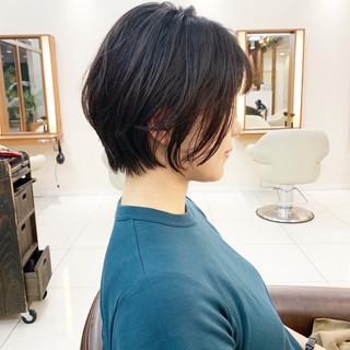 ふんわりショート ショート ナチュラル ふんわり ヘアスタイルや髪型の写真・画像