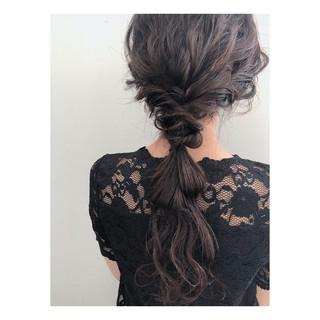 ショート ロング 簡単ヘアアレンジ ヘアアレンジ ヘアスタイルや髪型の写真・画像 ヘアスタイルや髪型の写真・画像