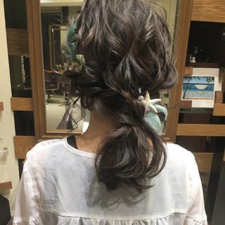結婚式 大人かわいい ヘアアレンジ ナチュラル ヘアスタイルや髪型の写真・画像 ヘアスタイルや髪型の写真・画像