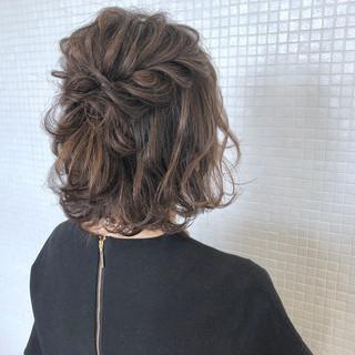 ヘアアレンジ ナチュラル 結婚式 ハーフアップ ヘアスタイルや髪型の写真・画像 ヘアスタイルや髪型の写真・画像