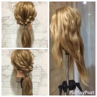 パーティ ヘアアレンジ フェミニン 結婚式 ヘアスタイルや髪型の写真・画像 ヘアスタイルや髪型の写真・画像
