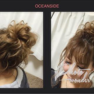 ゆるふわ ヘアアレンジ お団子 大人かわいい ヘアスタイルや髪型の写真・画像