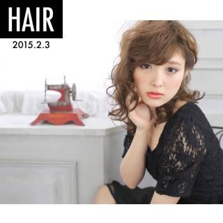 大人かわいい ヘアアレンジ ウェットヘア ナチュラル ヘアスタイルや髪型の写真・画像