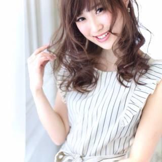 モテ髪 コンサバ フェミニン 春 ヘアスタイルや髪型の写真・画像