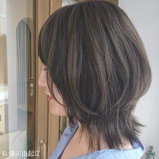 大人かわいい ミディアム グラデーションカラー ハイライト ヘアスタイルや髪型の写真・画像