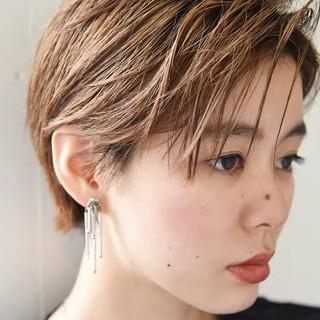 ハイトーン ベリーショート ハンサムショート ショート ヘアスタイルや髪型の写真・画像